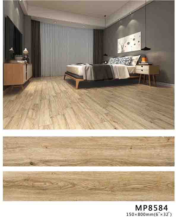 打破常规,玉金山柔光木纹砖在客厅厨房同样出色